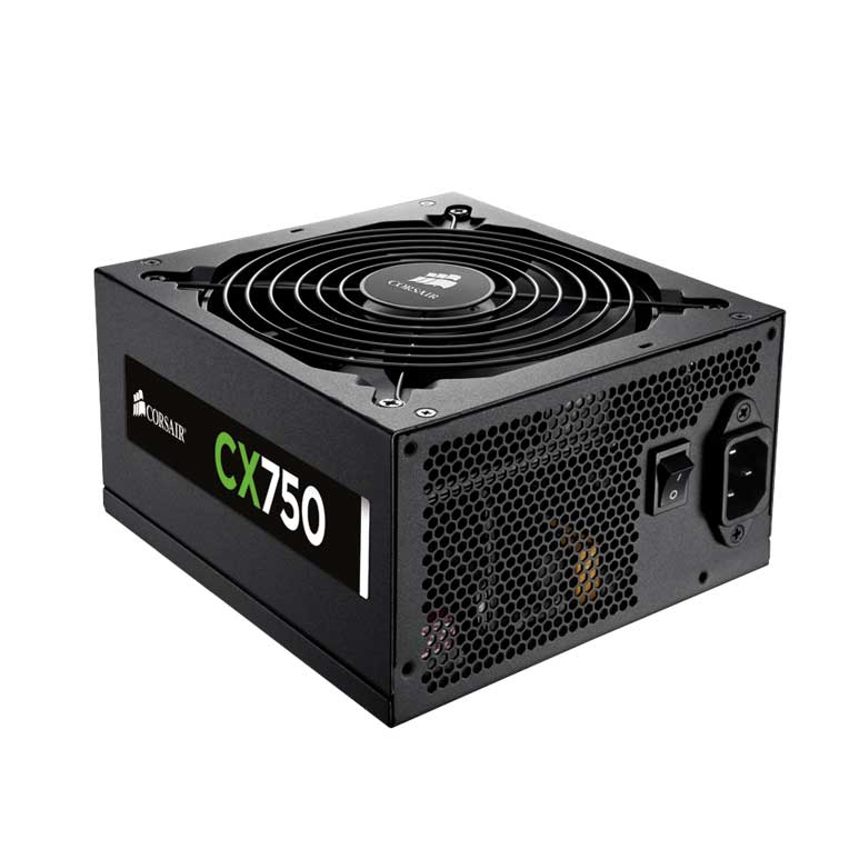 Fonte Corsair CX750 V2 750W Reais 80 Plus Bronze CPU 4+4 pinos, ATX EPS 12V V2.3 Box 0917