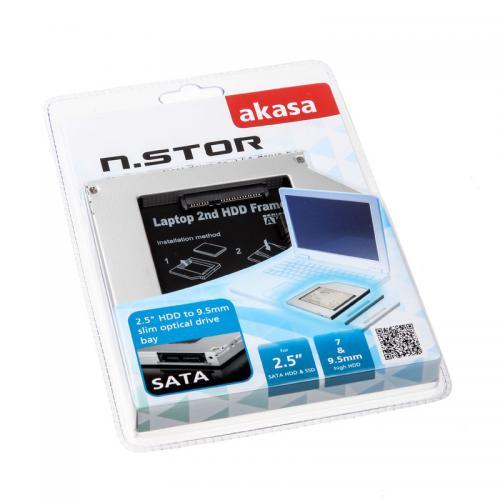 Adaptador AKASA N. Stor S9 para HD 2.5 SATA HDD & SSD, 7mm e 9.5mm - AK - OA2SSA - 03 1669 1669