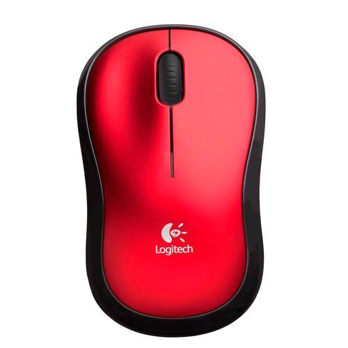 Mouse-Logitech-M185-1000DPI-Sem-fio-Vermelho